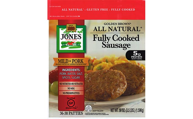 All Natural Golden Brown Mild Pork Sausage Patties 3.5lbs