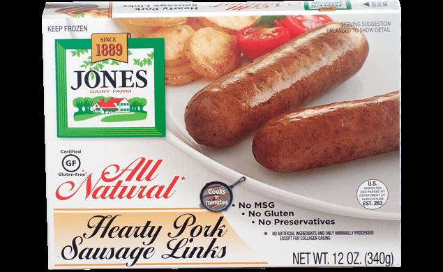 All Natural Pork Sausage Hearty Links 12oz