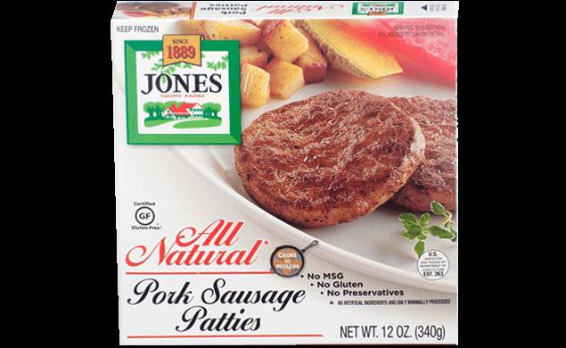 All Natural Pork Sausage Patties 12oz