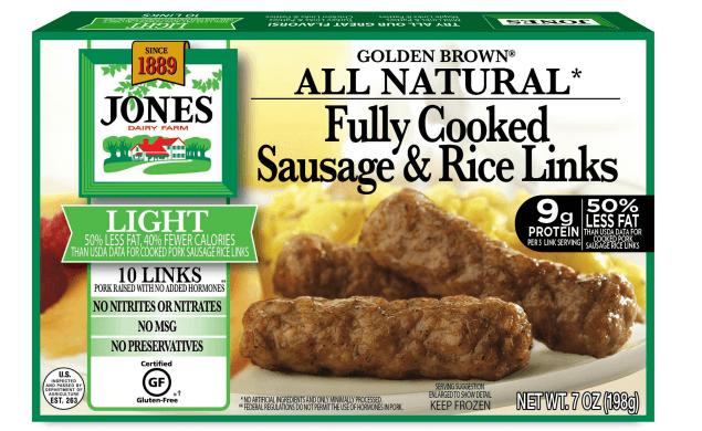 All Natural Golden Brown Light Breakfast Sausage Rice Links 7oz