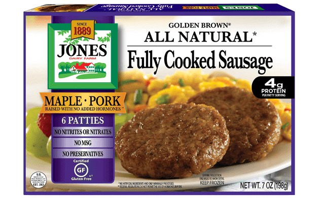 All Natural Golden Brown Maple Pork Sausage Patties 7oz