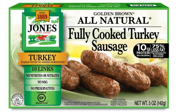 All Natural Golden Brown Turkey Sausage Links 5oz