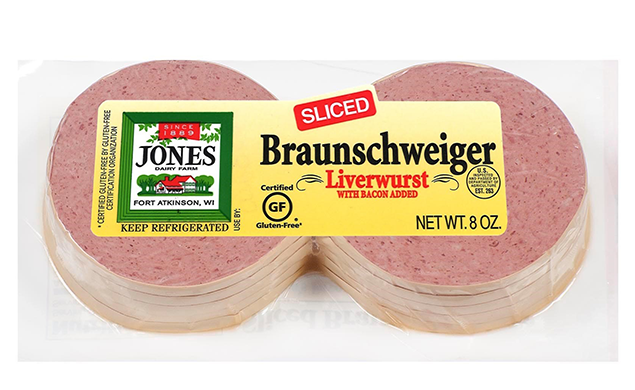 Braunschweiger Liverwurst Sliced Cracker Slices 8oz