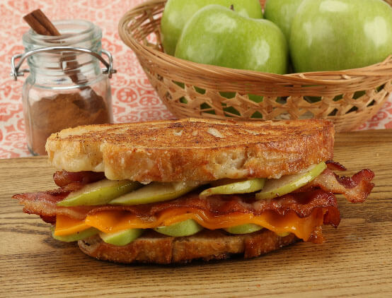 Caramel Apple & Bacon Grilled Cheese