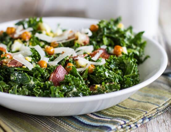 Bacon & Kale Caesar Salad Recipe