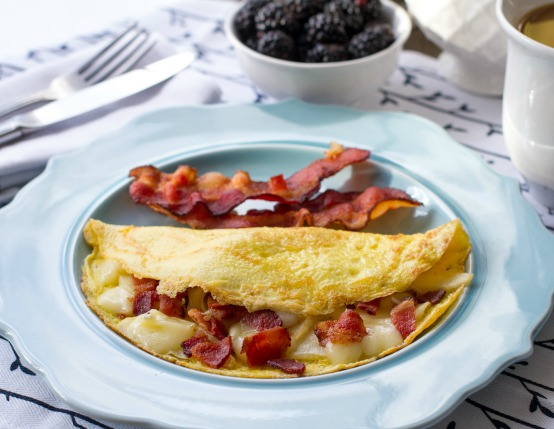 Bacon Apple Brie Omelet