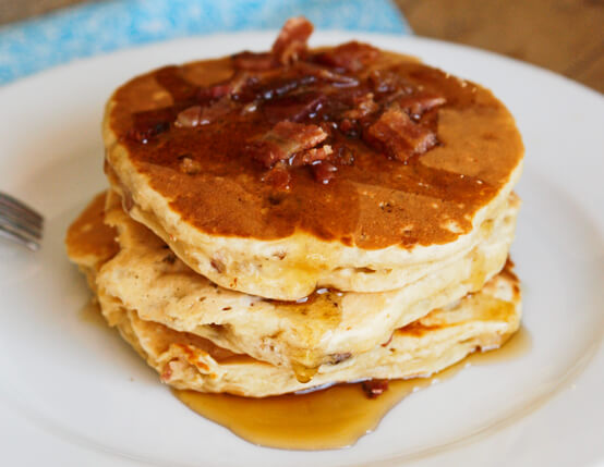 Bacon-Banana-Buttermilk Oat Pancakes Recipe