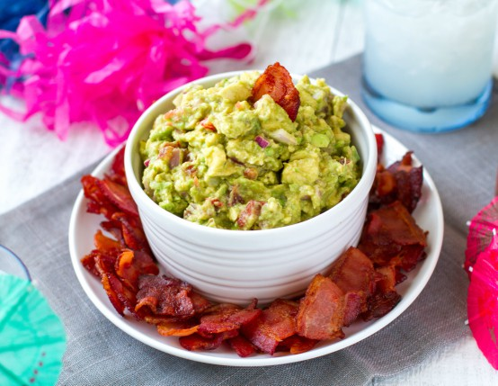 Bacon Chips & Homemade Guacamole