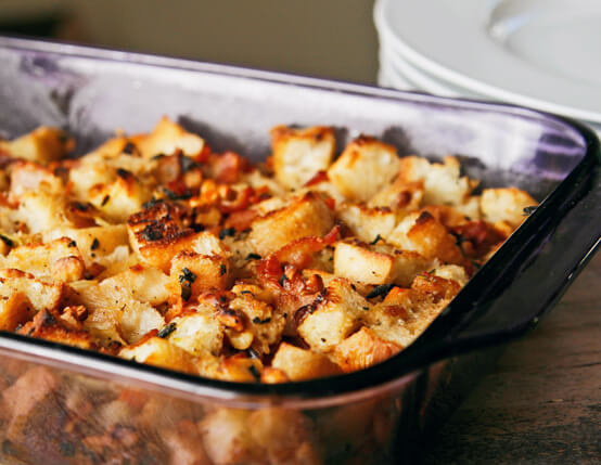 Bacon Walnut Ciabatta Stuffing Recipe