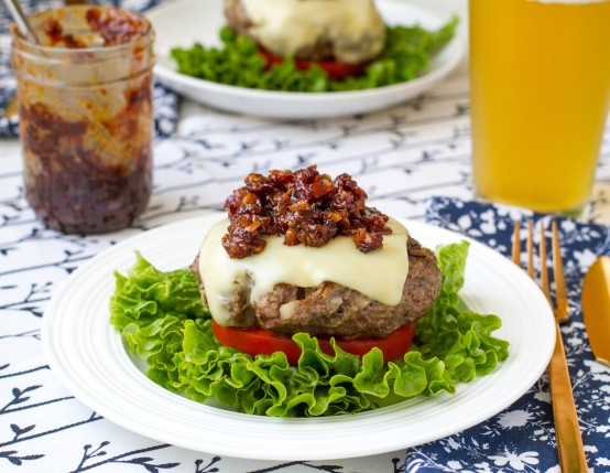 Bourbon Bacon Jam Cheeseburger Stacker