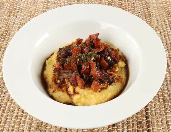 Braised Venison & Parmesan Polenta