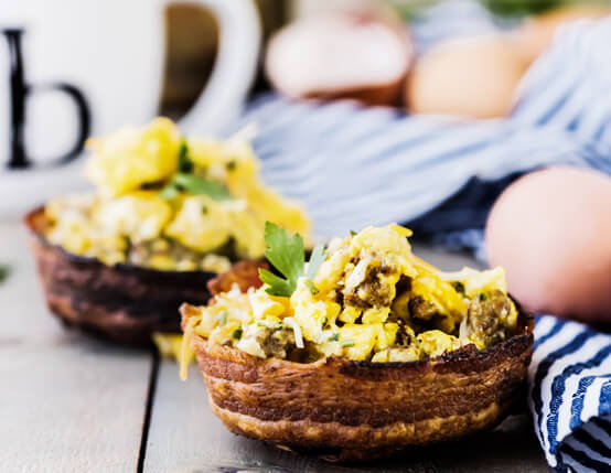 Breakfast Bacon Bowls Recipe