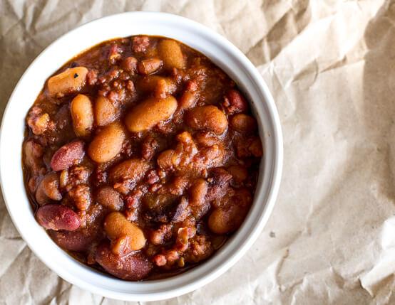 Buffalo Beans with Bacon Recipe