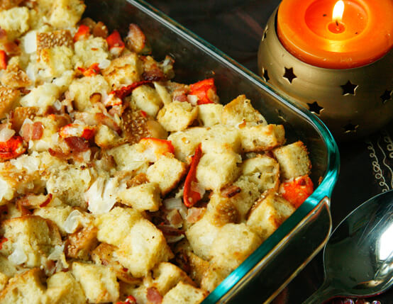 Buttery Lobster and Bacon Stuffing