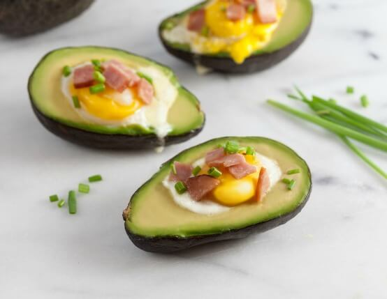 Canadian Bacon and Egg Stuffed Avocados Recipe