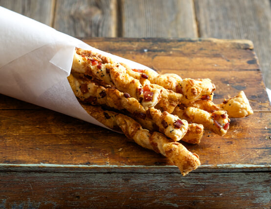 Canadian Bacon Cheese Straws Recipe
