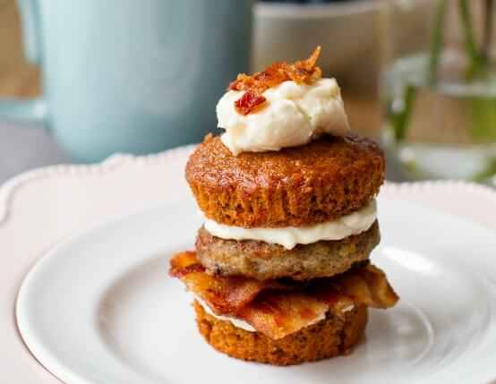 Carrot Cake and Breakfast Sausage Sliders Recipe