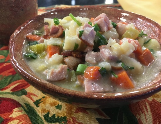 Canadian Bacon & Cauliflower Chowder