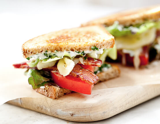 Cherry Smoked BLT with Fontina and Herb Aioli