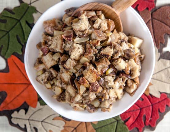 Chestnut and Rye Stuffing with Jones Bacon Recipe