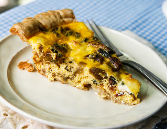 Farmers Market Bacon Quiche Recipe