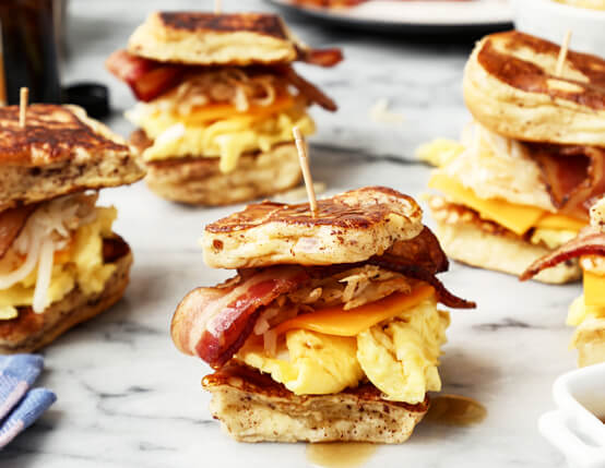 French Toast Breakfast Sliders