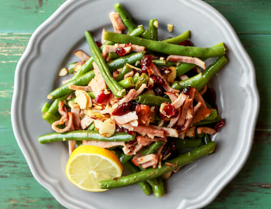 Garlic and Lemon Green Beans with Canadian Bacon Recipe