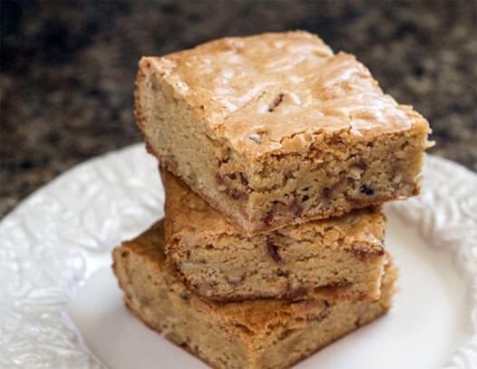 Maple Bourbon Bacon Blondies Recipe