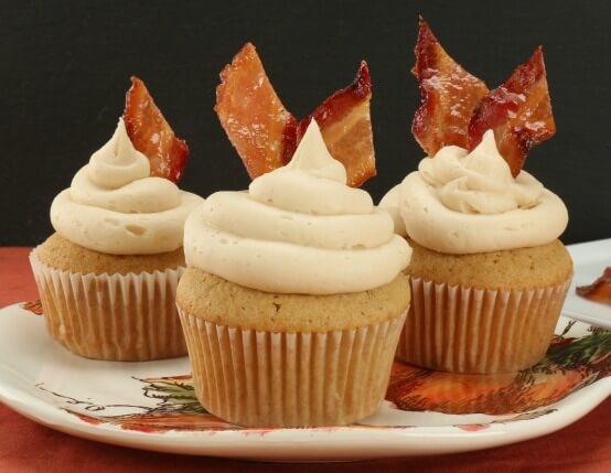 Maple Bacon Bourbon Cupcakes Recipe