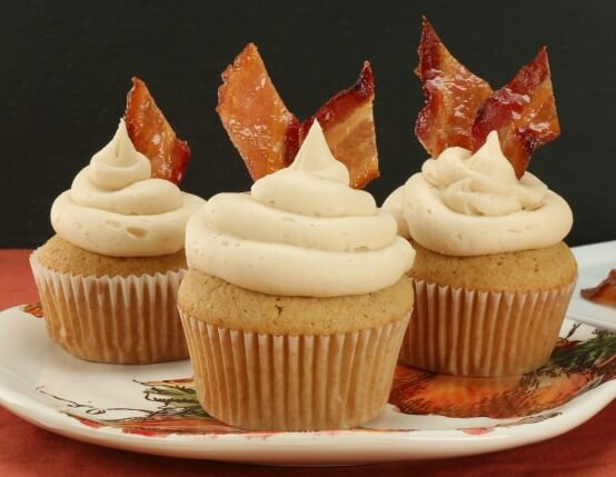 Maple Bacon Bourbon Cupcakes