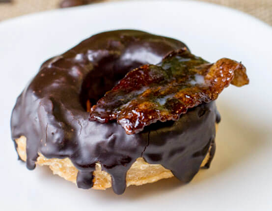 Mocha Bacon Puff Pastry Doughnuts  Recipe