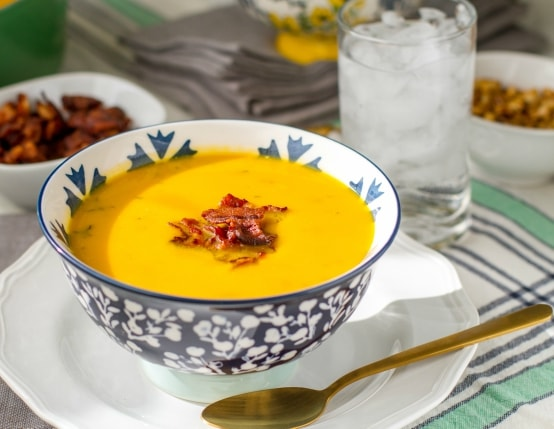 Paleo Bacon and Squash Soup