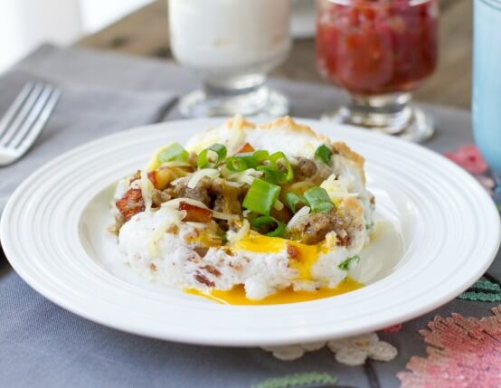 Savory Breakfast Egg Clouds Recipe