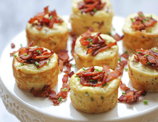 Savory Individual Bacon Cheesecakes