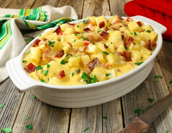 Slow Cooker Cheesy Bacon Potato Casserole