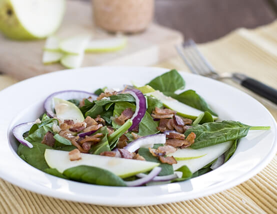 Spinach Salad with Bacon Vinaigrette Recipe