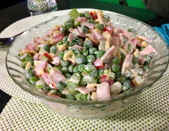 Sweet Pea & Canadian Bacon Salad