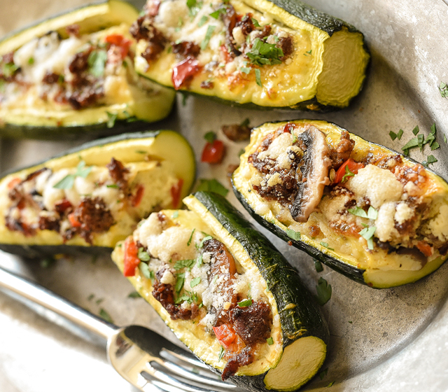 Sausage Egg Zucchini Boats Recipe