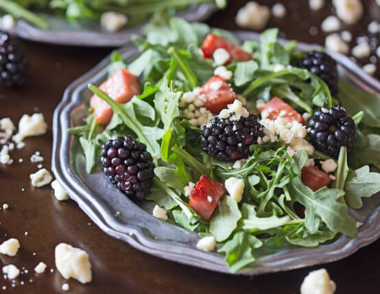 Black and Blue Salad with Crispy Ham Recipe