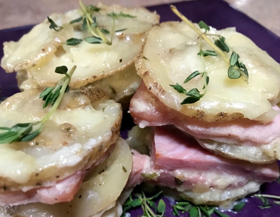 Cheesy Ham & Potato Stackers