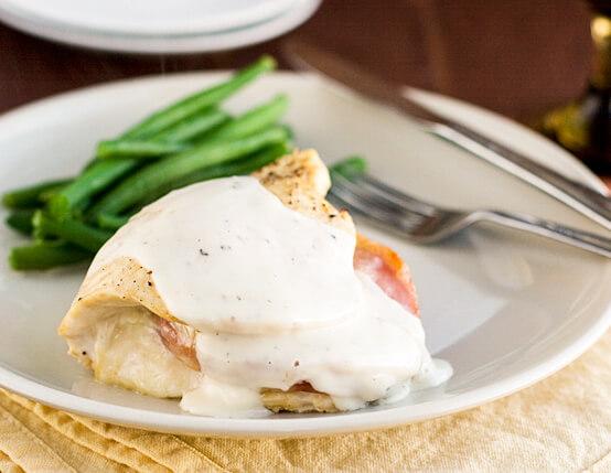 Chicken Breasts Stuffed with Ham Recipe
