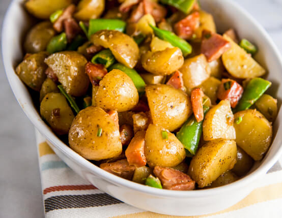 Dijon Potato Salad with Crispy Ham Recipe