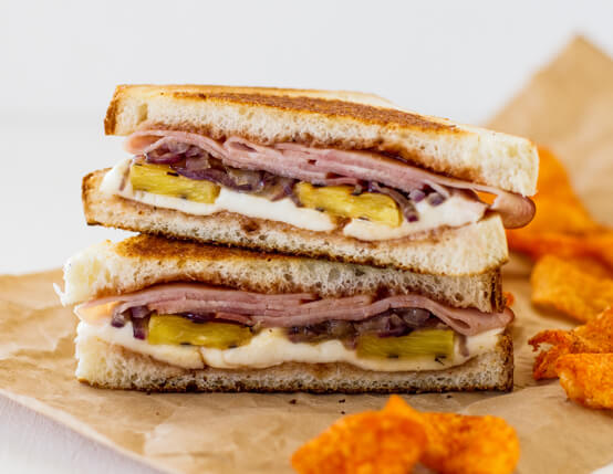 Grilled Hawaiian Ham Sandwiches Recipe