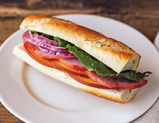 Ham and Gouda Baguette Recipe