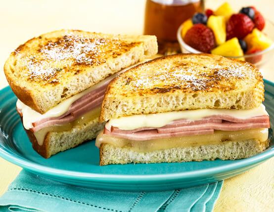 Jones Ham & Wisconsin Cheese Stuffed French Toast Recipe