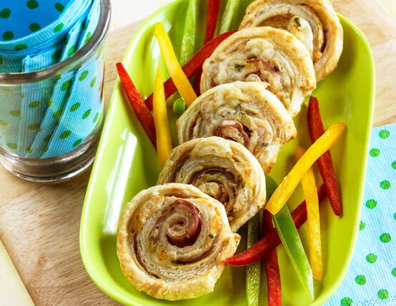 Ham & Wisconsin Gruyère Spirals