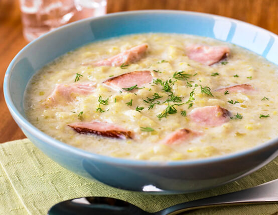 Ham, Potato & Leek Soup Recipe