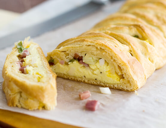 Ham Stuffed Breakfast Braid Recipe
