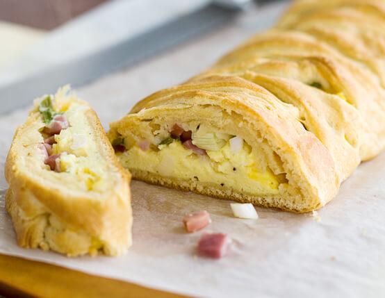 Ham Stuffed Breakfast Braid Recipe