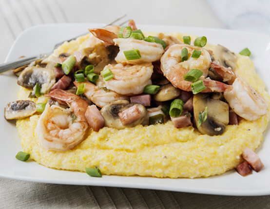 Shrimp and Grits with Jones Dairy Farm Ham Recipe